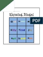 rhyming bingo worksheet