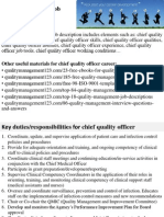 Chief Quality Officer Job Description