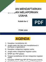 NPWP dan Pengukuhan PKP-1