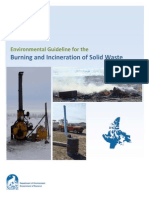 Guideline - Burning and Incineration of Solid Waste 2012