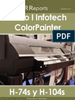 705743 Seiko I Infotech ColorPainter H-74s H-104s Mild-solvent Inkjet Printer Evaluations Tests Reviews ES