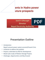Investments in Hydropower Sunil Kumar Dhungel