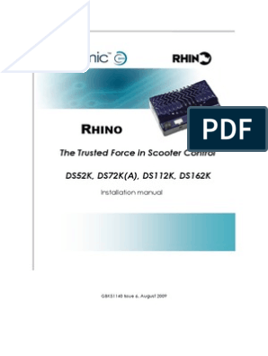 Rhino Installation Manual Iss6 (1) | Electrical Connector