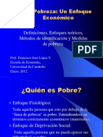 Clase de pobreza por el Prof Francisco Lopez