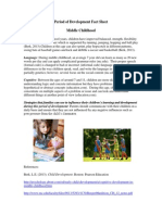 period of development fact sheet middle childhood