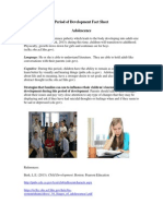 period of development fact sheet adolescence