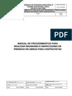 Manual de Procedimientos Para Realizar Inspecciones de Preinicio en Obras Para Contratistas Pdvsa