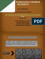 Metodologia de Recursos Humanos(Bioquimica Itsatlixco)