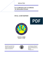 ED-OIG Security over Certification and Accreditation for Information Systems - a11j0001