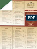 Nirankar Indian Restaurant Menu List