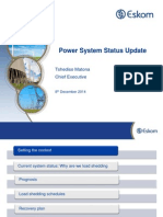 Power System Status Update - Final December Status