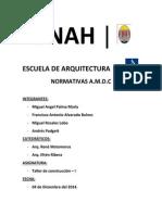 Informe - Taller de construcción 1 - Normativas A.M.D.C. - Bulevar Morazán, Tegucigalpa, Honduras