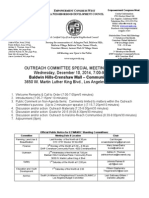 ECWANDC Outreach Committee Special Meeting Agenda - December 10, 2014