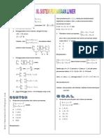 Modul Sistem Persamaan Linier