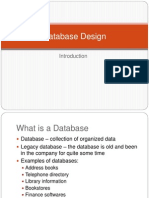1Database Design Introduction