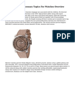 A Quick A-Z On Necessary Topics For Watches Overview