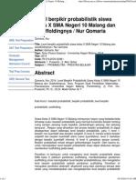 Print Level Berpikir Probabilistik Siswa Kelas X SMA Negeri 10 Malang Dan Sacaffoldingnya _ Nur Qomaria