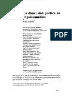 Artículo La dimensión poética en el psicoanálisis