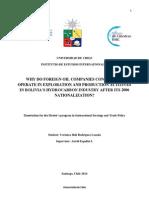 Bolivia Nacionalizacion Hidrocarburos