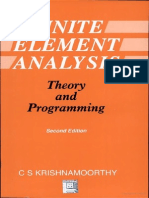 Finite Element Analysis Theory and Programming by C. S. Krishnamoorthy