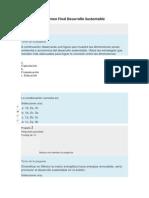 Examen Final Desarrollo Sustentable
