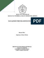 Rpkps Manajemen Proyek Sistem Informasi