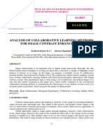 Analysis of Collaborative Learning Methods for Image Contrast Enhancement