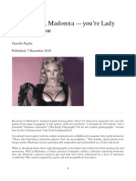 Camille Paglia, 'Do cover up, Madonna — you're Lady Bracknell now', The Sunday Times