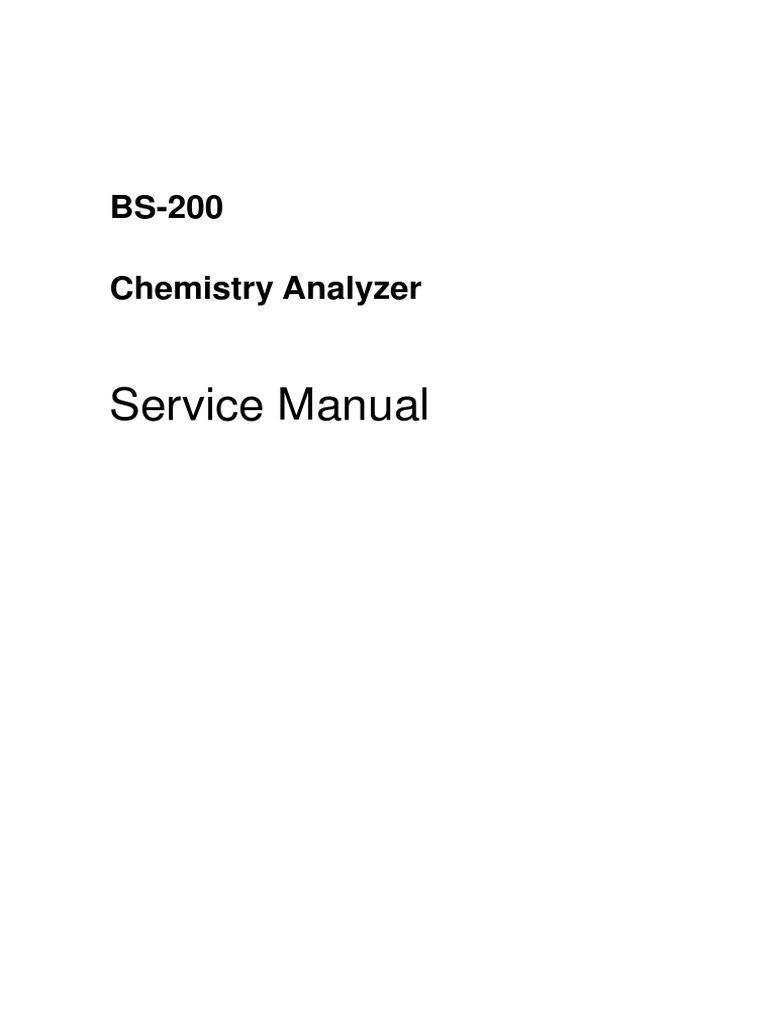 mindray bs 200 service manual