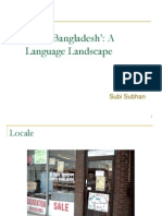 Subi Subhan - Little Bangladesh a Language Landscape PPT27541