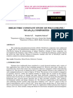 Dielectric Constant Study of Polyaniline Nicofe2o3 Composites