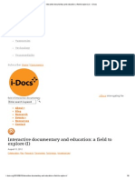 Interactive Documentary and Education_ a Field to Explore (I) - I-Docs