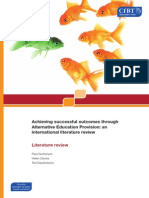 Achieving Successful Outcomes Through Alternative Education Provision - An International Literature Review (2011)