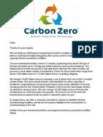 Carbon Zero Bio Char Production Technology