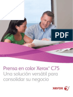 Folleto Xerox C75