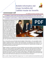 Boletín del Grupo Socialista del Cabildo de Tenerife 104. 1 - 7 de diciembre 2014