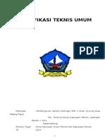 Spesifikasi Umum Lap Olahraga Smkn 3 p. Pucung Mlg Rpt Rev