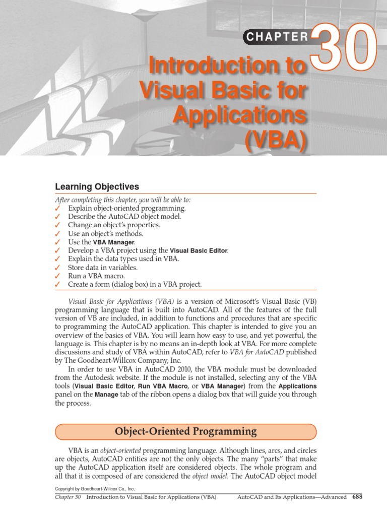 Intro to VBA for AutoCAD | Visual Basic For Applications