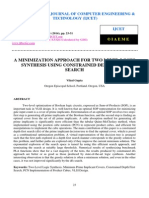 A Minimization Approach for Two Level Logic Synthesis Using Constrained Depth First Search