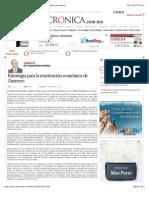 La Crónica de Hoy | Estrategia para la reactivación económica de Guerrero