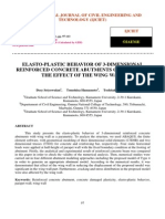 Elasto Plastic Behavior of 3 Dimensional Reinforced Concrete Abutments Considering the Effect of the Wing Wall