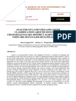 Analysis on Land Use Land Cover Classification Around Mysuru and Chamarajanagara District Karnataka India Using Irs 1d Pan Liss III Satellite Data