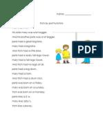 proper nouns lesson sheet group 1