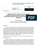 Probabilistic Design and Random Optimization of Hollow Rectangular Composite Structure by Using Finite Element Method