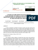 A Study of the Effects of Machining Parameters on Surface Roughness Using Response Surface Method