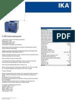 Data Sheet c 200 Calorimetersystem