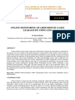 Online Monitoring of Greenhouse Gases Leakage by Using Gsm