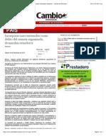29-11-14 Incorporar narcomenudeo como delito del crimen organizado, demandan senadores - Cambio de Michoacán.pdf