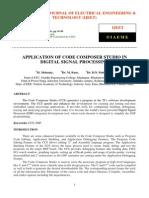 Application of Code Composer Studio in Digital Signal Processing