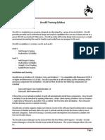 Orca3D Training Syllabus